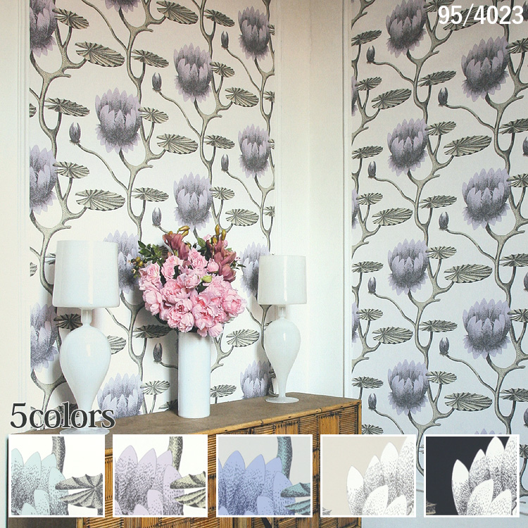 輸入壁紙 イギリス製 コール・アンド・サン Summer Lily Wide width1ロール(68.5cm×10m)単位で販売フリース壁紙(不織布) 【海外取寄】