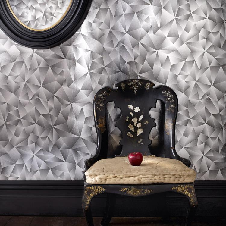 【10%OFFクーポン配布中!5/31まで】はってはがせる 輸入 壁紙 イギリス製 グラハム・アンド・ブラウン Mirror Mirror 1ロール(52cm×10m)単位で販売 フリース壁紙(不織布) 壁紙屋本舗
