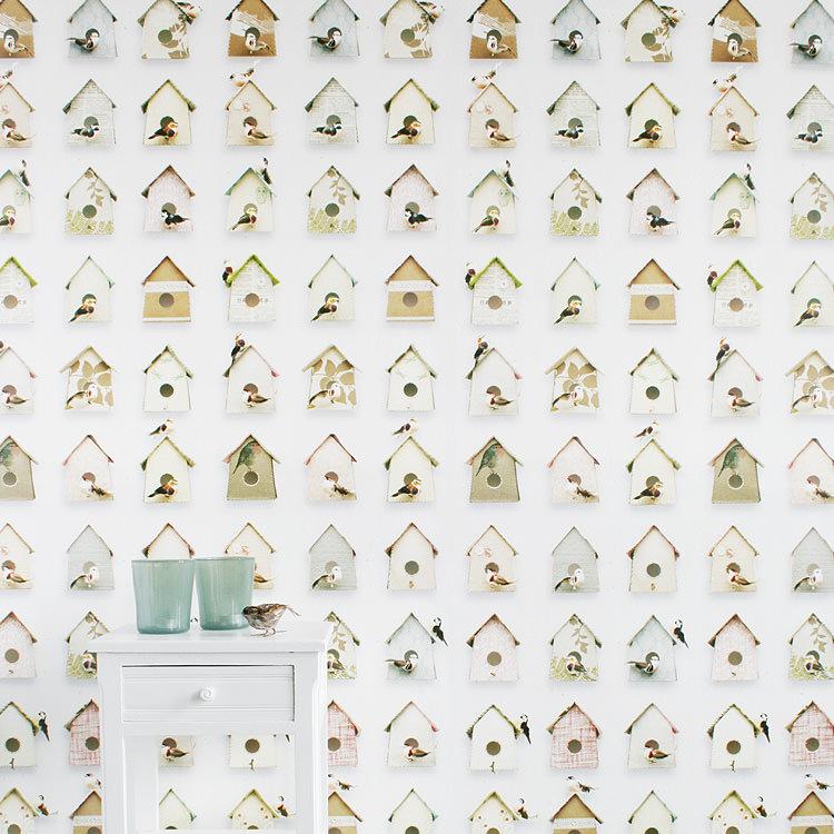 輸入壁紙 オランダ製 スタジオ・ディッテ Birdhouse1ロール(48.5cm×6m)単位で販売フリース壁紙(不織布) 【海外取寄】