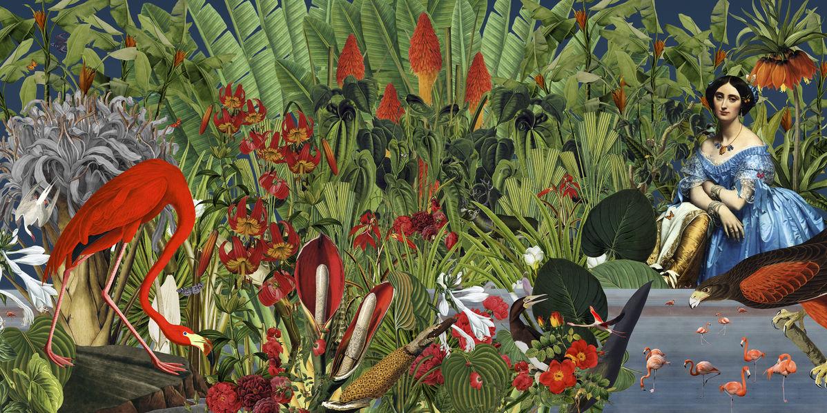 アートパネル 10cm単位でサイズオーダーできる 絵画 壁掛け インテリア 壁飾り キャンバス アート ウォール 植物 鳥 トロピカル ボタニカル 女性 人物 e320901