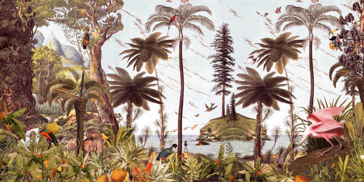 アートパネル 10cm単位でサイズオーダーできる 絵画 壁掛け インテリア 壁飾り キャンバス アート ウォール 植物 森 ジャングル トロピカル e320910