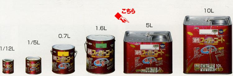 【最大5000円引きクーポン!1/5まで】 アサヒペン <油性>スーパーコート 5L<多用途> 全20色
