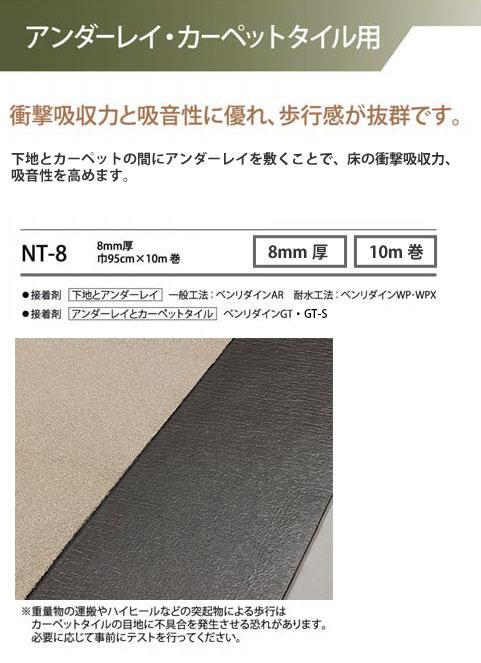 サンゲツ アンダーレイ NT-8 8mm厚 巾95cm×10m巻 【メーカー直送代引き不可】 壁紙屋本舗