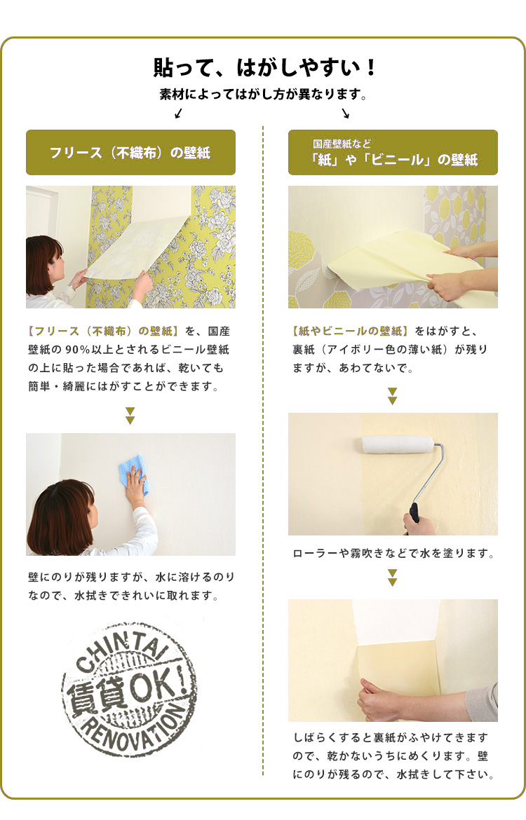 kabegamiyahonpo | rakuten global market: easy-to-peel and stick