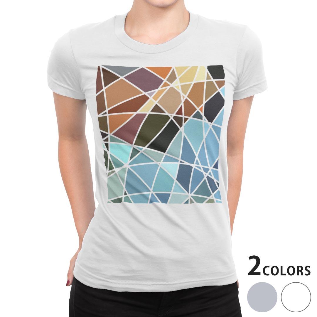 レディース デザインTシャツ tシャツ 激安格安割引情報満載 半袖 白地 デザイン S M shirt お気にいる L T XL タイル Tシャツ 000486 ティーシャツ
