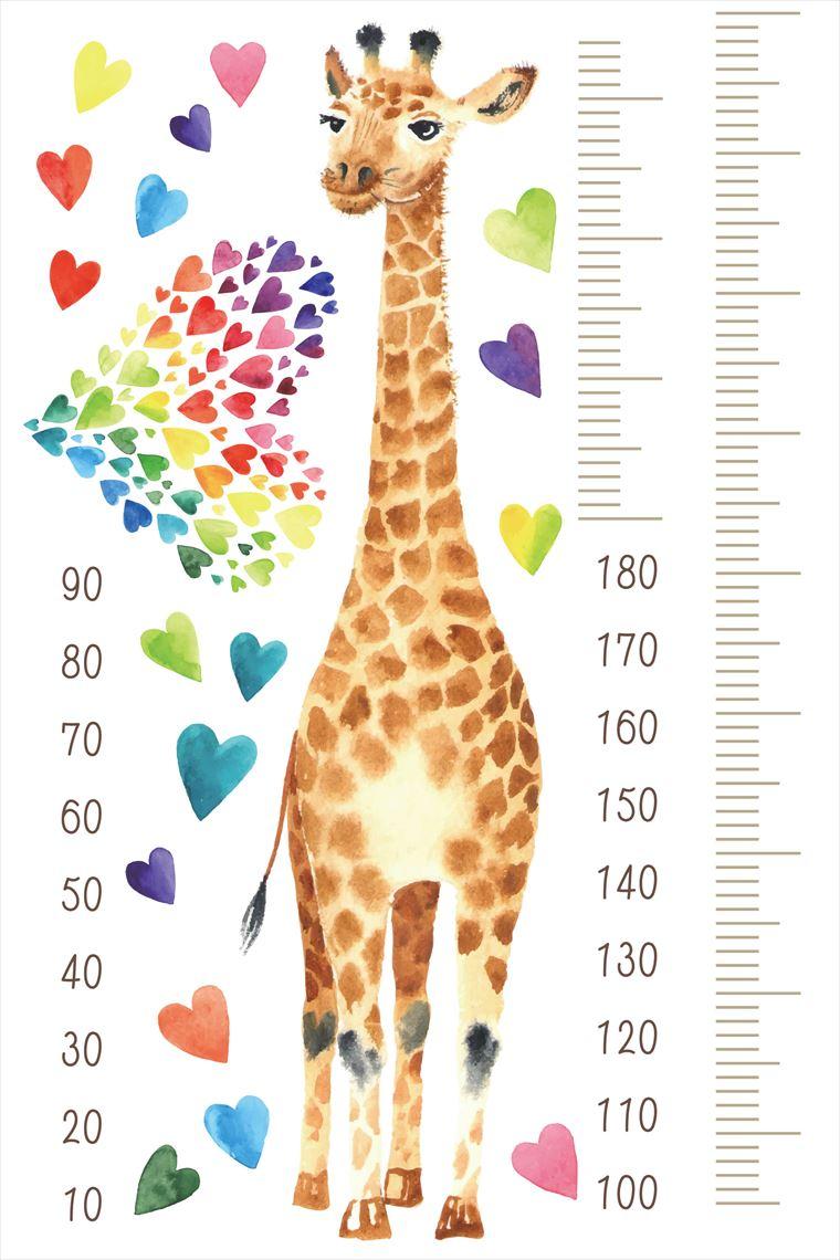 楽天市場 ウォールステッカー 身長計 記念 目盛り 子供部屋 動物 木 かわいい キリン 北欧 90 60cm シール式 装飾 おしゃれ 壁紙 はがせる 剥がせる カッティングシート Wall Sticker 雑貨 Diy プチリフォーム Kabeコレ