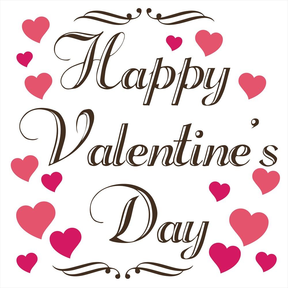 楽天市場 バレンタイン シール式ウォールステッカー バレンタイン