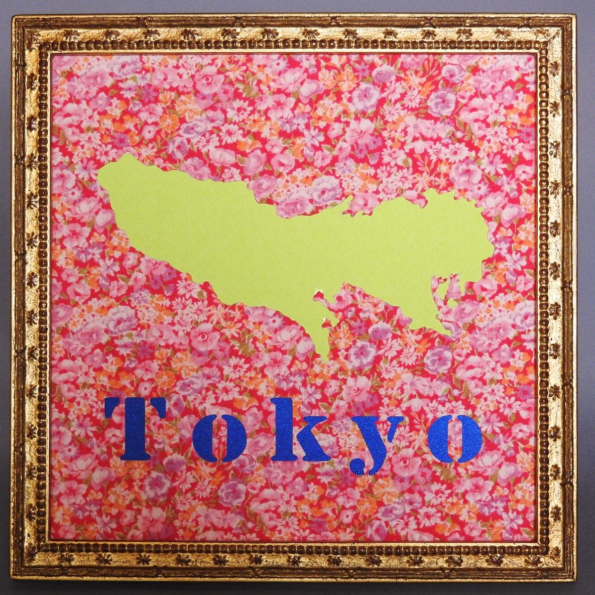 電子顕微鏡の出荷金額日本一。東京都の地図をモチーフにした壁飾りです。220mmの正方形です。