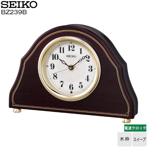【電波 置き 時計 木枠】 BZ239B セイコークロック SEIKO 電波 クロック 置き 時計 木枠 スイープ インテリア アナログ時計 【30%OFF】【お取り寄せ】【令和 父の日 感謝 祝】