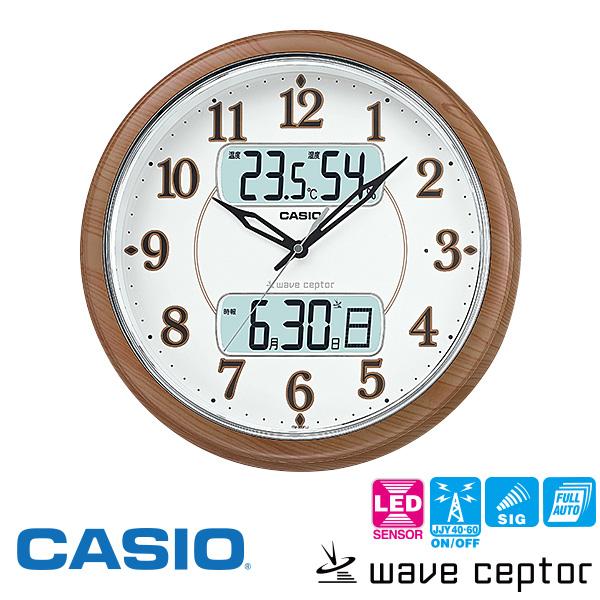 【電波時計 掛け時計 温度 湿度 点灯】 カシオ CASIO ITM-900FLJ-5JF カレンダー 【お取り寄せ】【30%OFF】【プレゼント ギフト 贈り物 ラッピング】【お取り寄せ】