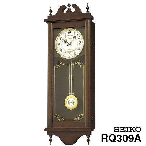 【掛け時計 柱時計 振り子】 RQ309A セイコークロック チャイム&ストライク 掛け時計 【30%OFF】【お取り寄せ】【柱時計】【プレゼント ギフト 贈り物 ラッピング】【お取り寄せ】