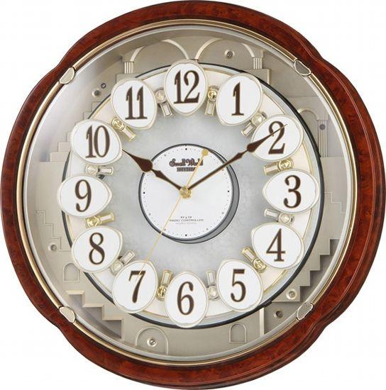 【電波時計 からくり メロディ】 スモールワールドコンベルS 4MN480RH23 電波 スモールワールド Small World リズム時計 RHYTHM メロディ からくり時計 オーロラサウンド 眠る秒針 【30%OFF】【お取り寄せ】【記念品】【名入れ】【少数】 【令和 ギフト 贈り物】