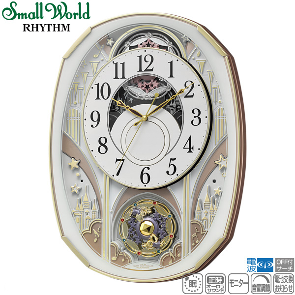スモールワールドノエルS 4MN551RH03 クロック メロディ 電波 掛時計 からくり スモールワールド Small World リズム時計 RHYTHM 【30%OFF】【在庫あり】【記念品】【名入れ】【少数】 【景品 ギフト お中元】