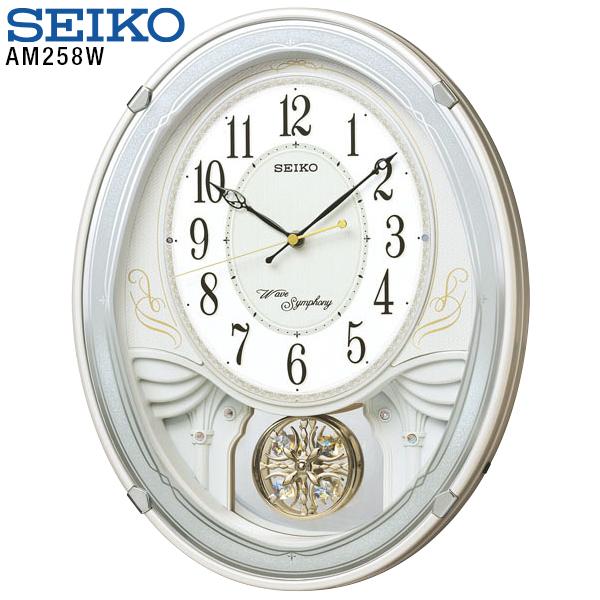 【掛け時計 電波時計】 AM258W セイコークロック SEIKO 電波掛時計 スワロフスキー 振り子時計 掛け時計 【30%OFF】【お取り寄せ】【新生活 応援】 【新生活 卒業 入学 祝】