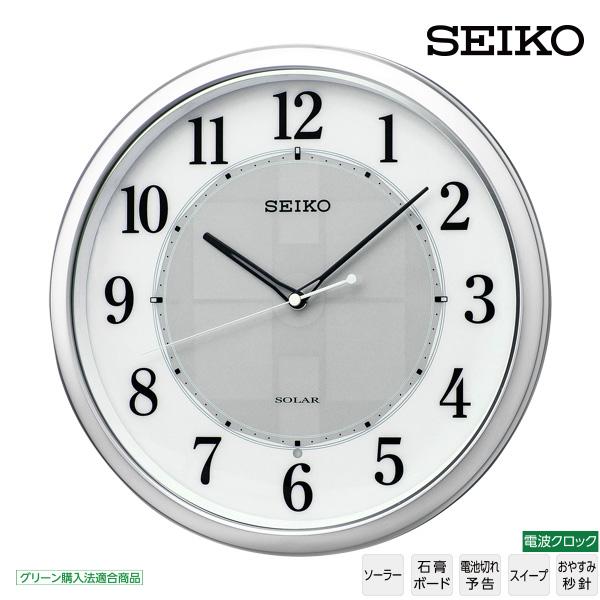 【ソーラー 電波 掛 時計】 セイコー SEIKO SF243S 電波 掛 時計 ソーラー 電池切れ予告 スイープ おやすみ秒針 グリーン購入法適合商品 【30%OFF】【お取り寄せ】 【バレンタイン お祝い】