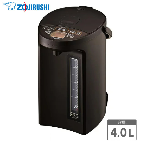 ZOJIRUSHI CV-GB40-TA ブラウン 象印 電気ポット 4.0L マイコン沸とうVE電気まほうびん 優湯生(ゆうとうせい) 電気とまほうびんを組み合わせてかしこく保温 【プレゼント ギフト 贈り物 ラッピング】【お取り寄せ】