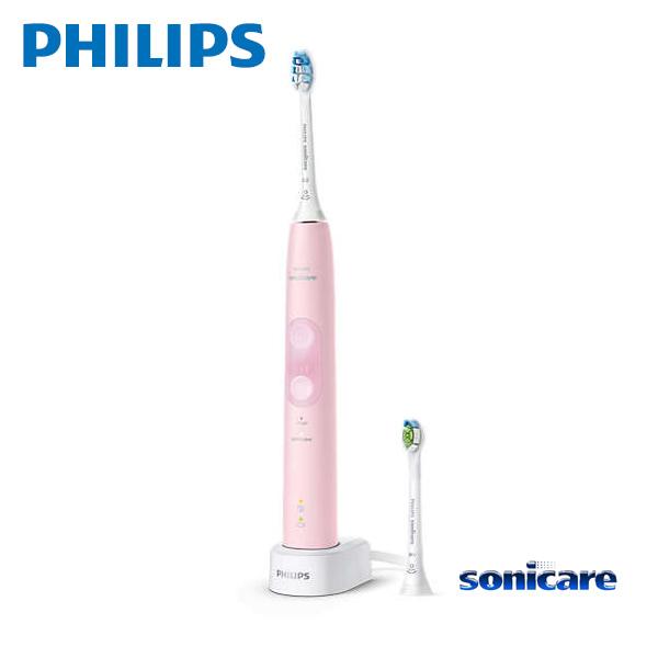 【お取り寄せ】 Sonicare HX6456/69 パステルピンク フィリップス ソニッケアー ProtectClean プロテクトクリーン プラス 電動歯ブラシ / 過圧防止センサー 2つのモード、3 段階の強さ設定 【令和 ギフト 贈り物】
