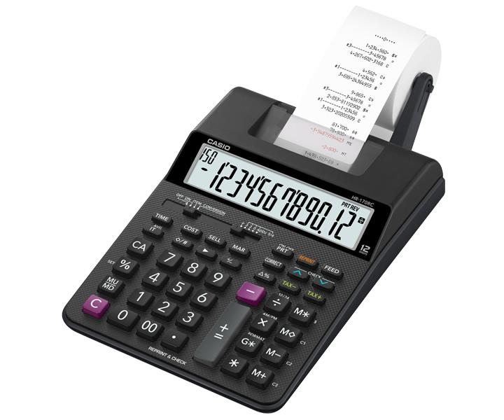 CASIO HR-170RC-BK カシオ電卓計算機 プリンター電卓 計算プロセスや結果をプリントアウト HR-170RCBK 【プレゼント ギフト 贈り物 ラッピング】【お取り寄せ】