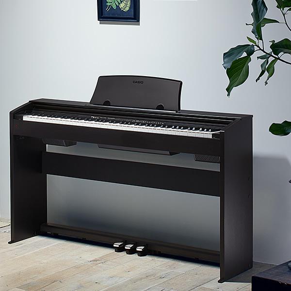 【在庫あり】 CASIO PX-770BK ブラックウッド調 カシオ 電子ピアノ CASIO スタンド・ペダル一体型 【電子楽器 Privia プリヴィア】※設置は承っておりません・運送会社での玄関までのお届けとなります※ 【景品 ギフト お歳暮】
