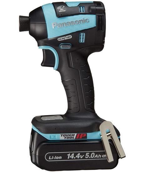 【キャッシュレスで5%還元】Panasonic 充電式インパクトドライバー 14.4V 5.0Ah EZ75A7LJ2F-A 青