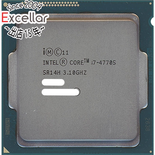 Core 即納送料無料! i7 4770S 当店限定販売 バルク 中古 LGA1150 Haswell SR14H 3.1GHz