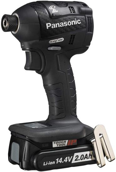 【キャッシュレスで5%還元】Panasonic 充電式インパクトドライバー 14.4V 2.0Ah EZ75A7LF2F-B ブラック