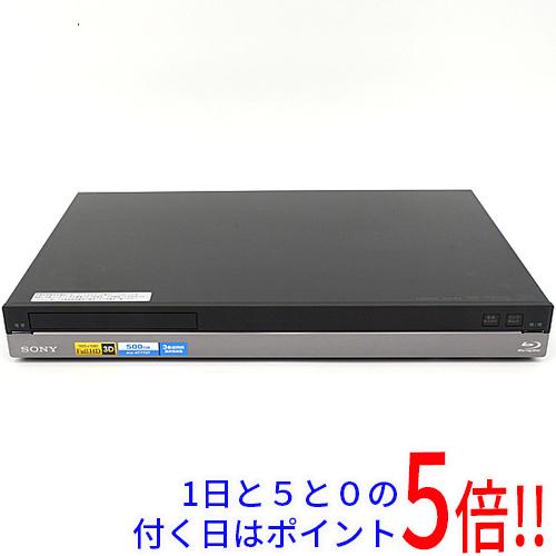 【中古】SONY ブルーレイディスクレコーダー BDZ-AT770T 500GB リモコンなし