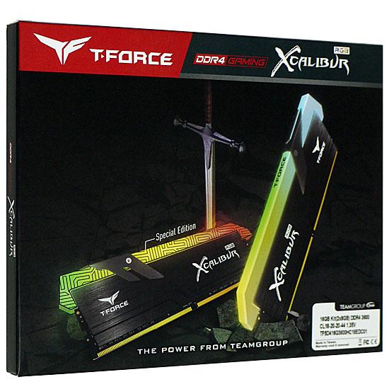 【キャッシュレスで5%還元】Team TF6D416G3600HC18EDC01 DDR4 PC4-28800 8GB 2枚組