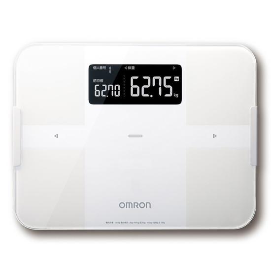 【新品訳あり(箱きず・やぶれ)】 オムロン製 体重体組成計 カラダスキャン HBF-256T-W ホワイト