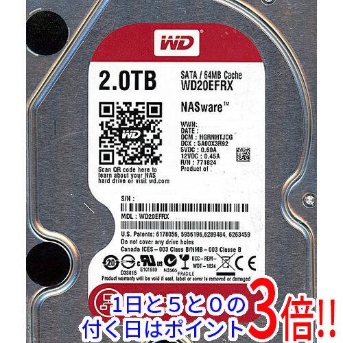 【キャッシュレスで5%還元】Western Digital製HDD WD20EFRX 2TB SATA600