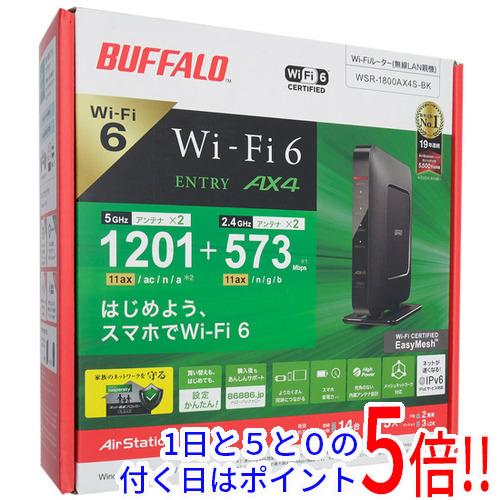<title>価格 延長保証対象商品 まとめて購入はココ BUFFALO 無線LANルータ AirStation WSR-1800AX4S-BK ブラック</title>