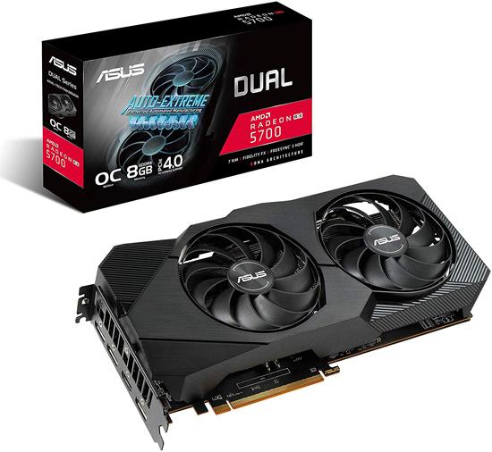 【キャッシュレスで5%還元】ASUSグラボ DUAL-RX5700-O8G-EVO PCIExp 8GB