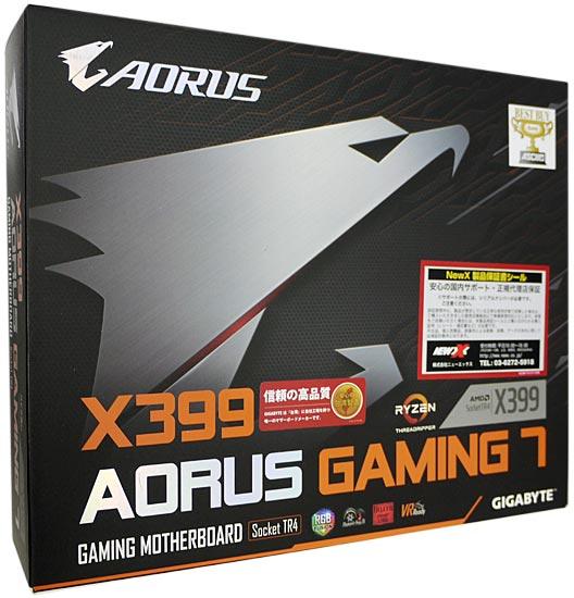 GIGABYTE製 ATXマザーボード X399 AORUS Gaming 7 Rev.1.0