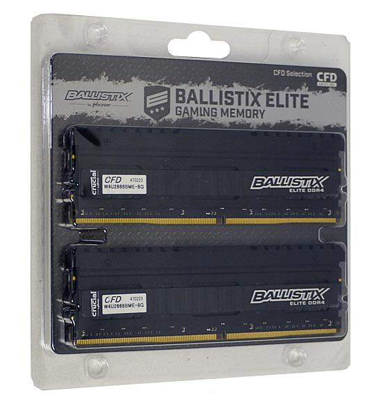 【中古】CFD Ballistix W4U2666BME-8G DDR4 PC4-21300 8GB 2枚組
