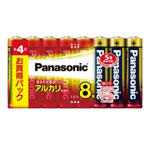 15:00迄のご注文で最短当日出荷 当店一番人気 在庫商品に限る パナソニック Panasonic LR03XJ アルカリ乾電池単4形8本パック LR03XJ-8SW 日本最大級の品揃え 8SW