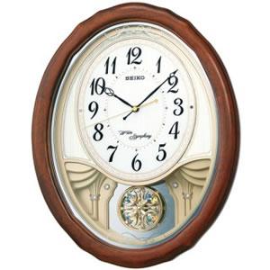 セイコー【SEIKO】アミューズ掛時計 ウエーブシンフォニー★壁掛け時計【AM257B】