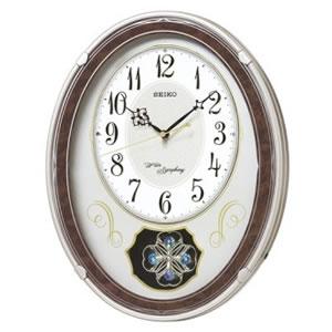 15:00迄のご注文で最短当日出荷 在庫商品に限る 絶品 セイコー 飾り振り子 電波クロック 壁掛け時計 アミューズ掛時計 ウエーブシンフォニー 全品最安値に挑戦 AM259B