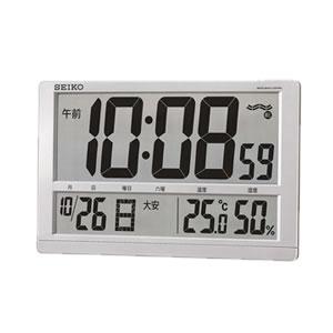 セイコー【特別特価】電波掛置き兼用時計 大型液晶  SQ433S★【オフィスに最適】