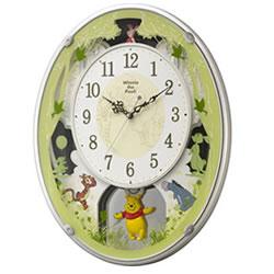 リズム時計工業【RHYTHM】電波からくり掛け時計 くまのプーさん M523★キャラクタークロック【4MN523MC03】