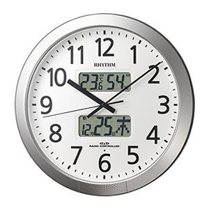 リズム時計工業【RHYTHM】電波掛時計 プログラムカレンダー 404SR ★【4FN404SR19】