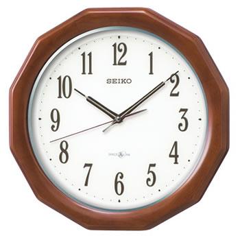 セイコー【SEIKO】衛星電波クロック 木枠スタンダード掛け時計 GP215B★【スペースリンク】
