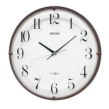 セイコー【SEIKO】衛星電波クロック 掛け時計 茶メタリック塗装 GP216B★【スペースリンク】