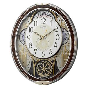 リズム時計【rhythm】電波からくり時計 スモールワールドノエルN 4MN539RH23★【4MN539RH23】