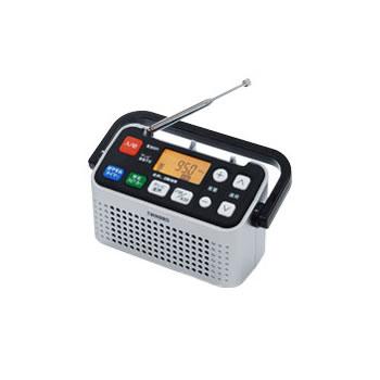 ツインバード【TWINBIRD】手元スピーカー機能付3バンドラジオ AV-J127S(シルバー)★【AVJ127S】