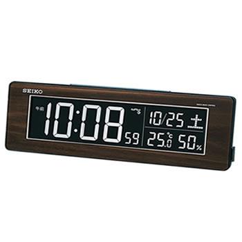 セイコー【SEIKO】交流式 電波デジタル目覚まし時計 DL210B★【LEDカラフル】