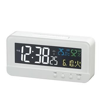 15:00迄のご注文で最短当日出荷 在庫商品に限る ノア精密 税込 MAG 交流式デジタル電波時計 T684WH カラーハープ ホワイト T-684-WH 超定番