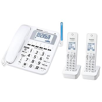 パナソニック【RU・RU・RU】デジタルコードレス電話機[子機2台付き] VE-GE10DW-W★【VEGE10DW】
