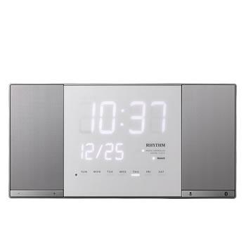 リズム時計工業【ワイヤレススピーカー搭載】電波掛け時計 トキオト2 8RZ183RH19★【Bluetooth】