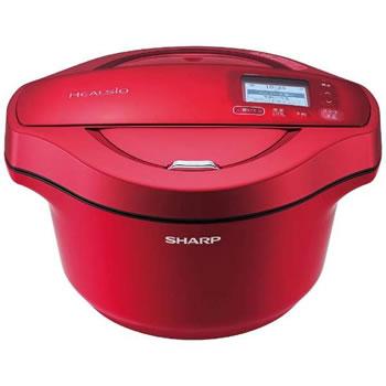 シャープ【SHARP】2.4L 水なし自動調理鍋 ヘルシオ ホットクック KN-HW24C-R(レッド系)★【KNHW24CR】