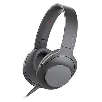 ソニー【ハイレゾ対応】ステレオヘッドホン h.ear on 2 MDR-H600A-B(グレイッシュブラック)★【MDRH600AB】